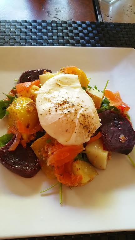 Roasted Beet Salad with Poached Egg