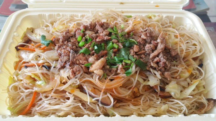 Rice Noodles with minced pork