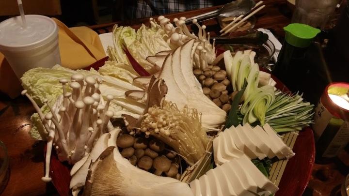 The freshest of veggies for the Shabu