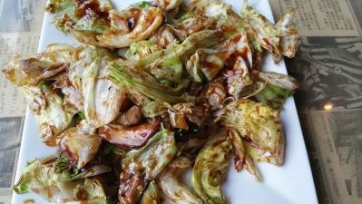 Wok Fried Lettuce w Soy Glaze