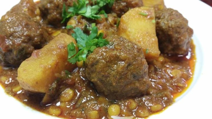 Koa Chalau Afghani style meatballs