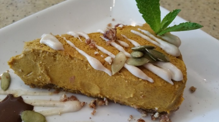 Pumpkin Pie made with fresh carrots