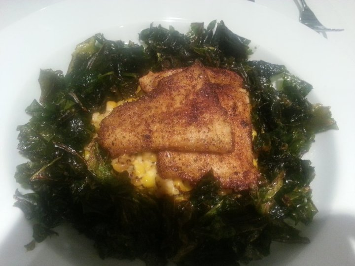 Trout with Crispy Kale