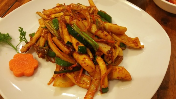 Spicy Sauteed Squid