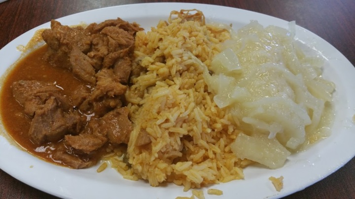 Veal, Rice and Yucca
