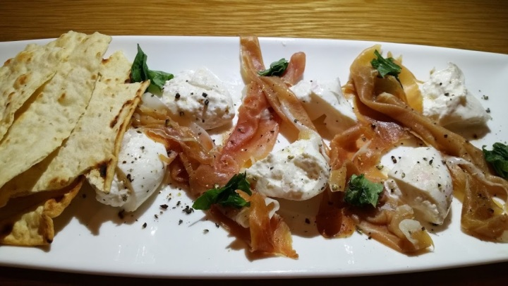 Buratta with Prochuitto