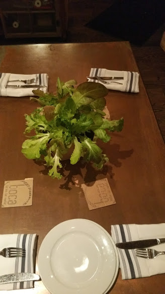 fresh greens on every table
