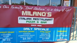 Milanos sign