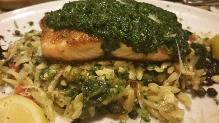 Atlantic Salmon w Pesto