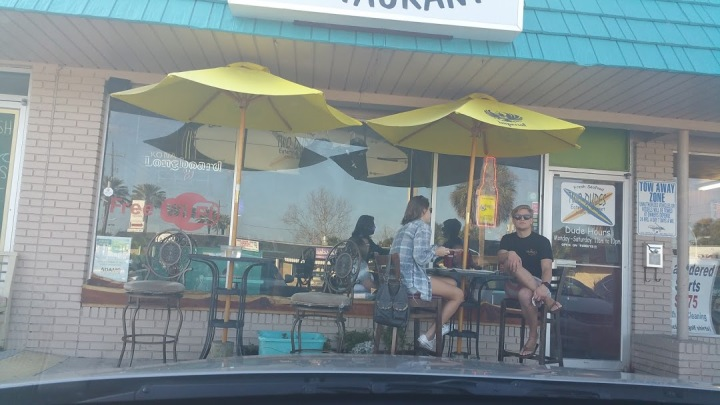 Outside seating Two Dudes