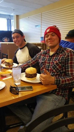 TJ and Billy Burger challange team
