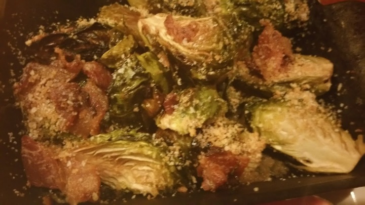 Roasted Brussel Sprouts w Bacon