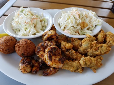 Blackened Shrimp Fried Oysters