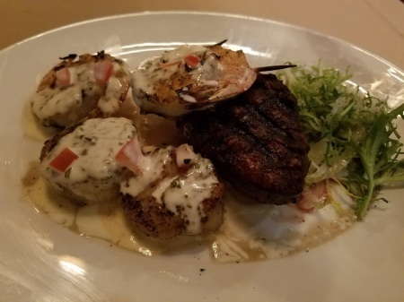 Filet with Local Shrimp and Diver Scallops