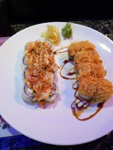 Foxy Lady and Volcano Rolls
