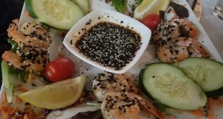 Sesame Shrimp Skewers
